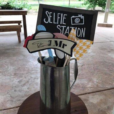 selfie station props