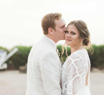 Shelby & Christian Low backyard wedding