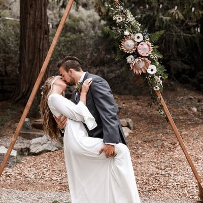 moody styled shoot Shaver Lake CA rustic arch